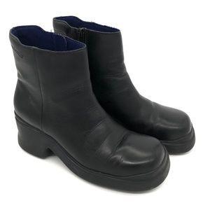 Nine West Cloud 9 Vintage Black Chunky Ankle Boot